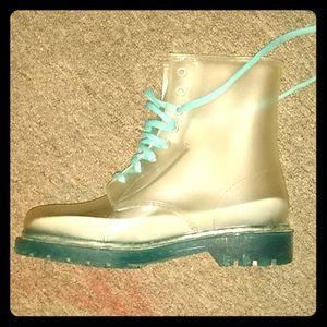 Jelly rain boots